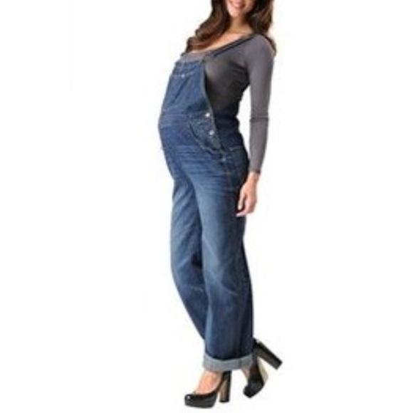 84c9a100ca Maternity denim overalls sz small. M 5abfc71861ca10dc5e34085e